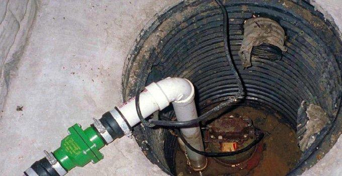 Close up of a sump pump