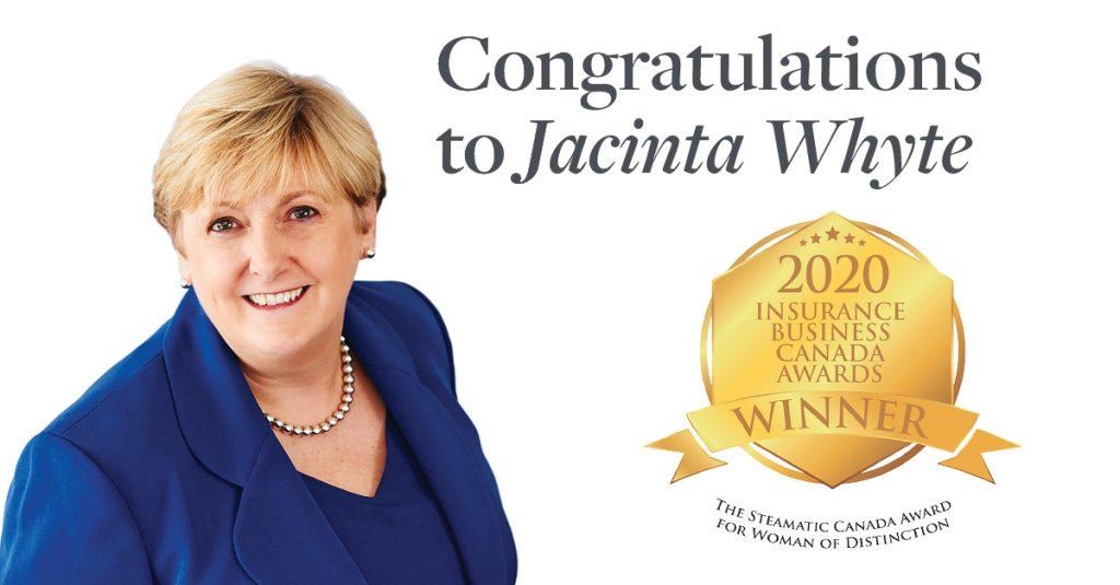 Jacinta Whyte – Gold Winner – Woman of Distinction award
